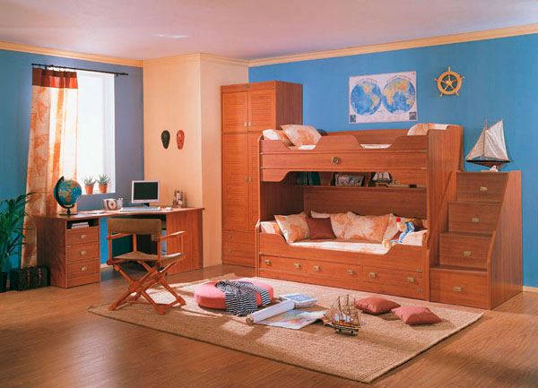 коричневый цвет десткой комнаты