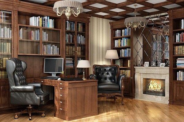 классический интерьер кабинета